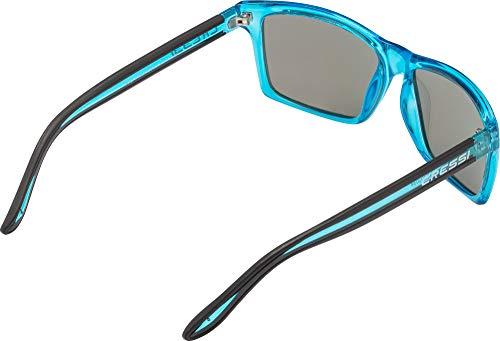 Imagen de cressi rio sunglasses gafas de sol deportivo polarizados, unisex adultos, crystal lentes espejadas azul, talla única alternativa