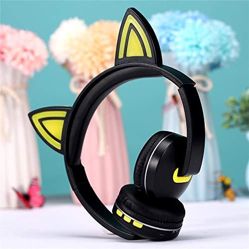 Bluetooth Headset Anime Cartoon Kopfhörer Drahtloses Bluetooth Headset@Gelb Anime-headset