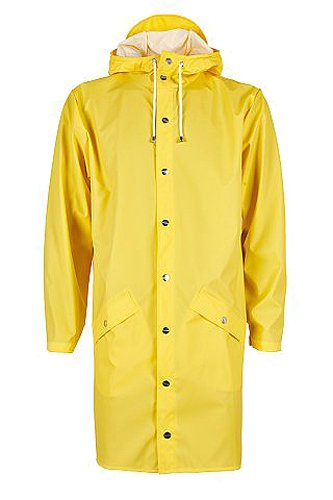 RAINS Herren Regenmantel Long Jacket Gelb