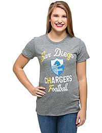 Womens San Diego Chargers Touchdown Tri-Blend T-Shirt