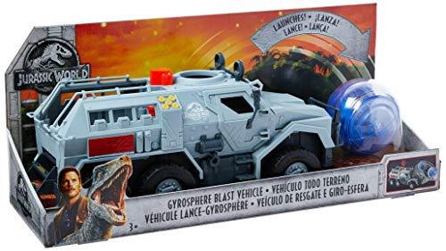 Mattel FMY86 - Jurassic World - Gyrosphere Blast Fahrzeug, Spielzeug Auto und Dinosaurier Spielzeug ab 4 Jahren (Park-lkw Jurassic)