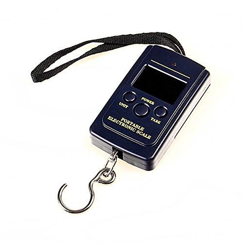 Digitale Gepäck Waage Reisewaage bis 40kg/20g Kofferwaage Fischwaage Hängewaage Gepäckwaage Taschenwaage