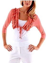 VIVANCE Collection Camiseta Bolero Coral Rojo, tallas 34–44/554712/C.1