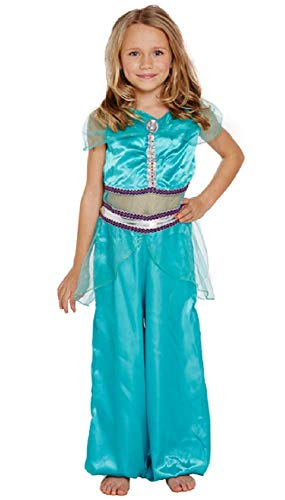Fancy Me Mädchen Arabische Prinzessin Harem Büchertag Jasmin Kostüm Kleid Outfit 4-12 Jahre - Blau, 7-9 - Blau Arabischen Prinzessin Kostüm