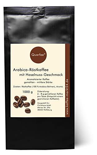 Aromatisierter Kaffee - Haselnuss - Mit Liebe geröstet mit Haselnuss Aroma - gemahlen (1000 g)