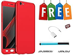360 Degree Hybrid Front Back Cover Case For Vivo Y53 With Free Stylus and Audio Splitter Cable