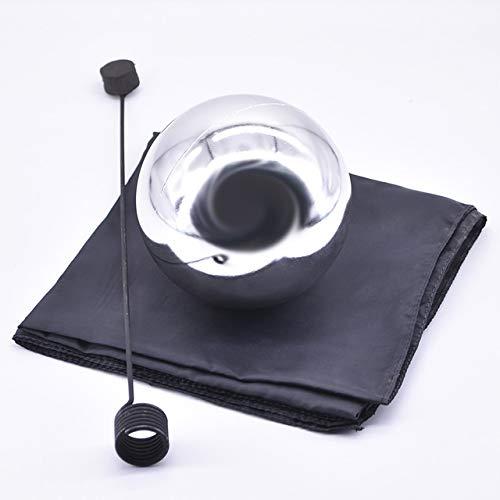 Foulard, mittelgroß, silberfarben, 12 cm, schwebende Magic Tricks Magier Bühne Gimmick Illusion Fun Wie abgebildet ()