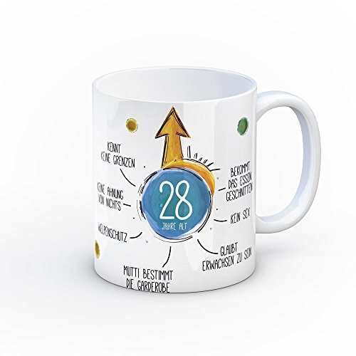 28 Jahre alt und nichts erreicht Kaffeebecher - Tasse Kaffeetasse Becher neckisch Scherzartikel...