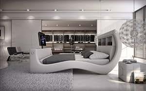 sam polsterbett innocent bett talise in wei 180 x 200 cm bett geschwungene seitenteile. Black Bedroom Furniture Sets. Home Design Ideas
