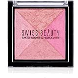 Swiss Beauty Baked 2 Blusher and 2 Highlighter (7 g, Colour Set-04)