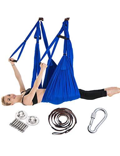 besbomig Pilates Volante Amaca Yoga Swing Aerea Amaca per Bodybuilding Inversione Cinghia - Molta Forza Palestra Interno Fitness Caricare