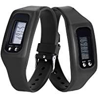 Contadores de calorías Sannysis - Pulsera de actividad con pulsómetro (Negro)