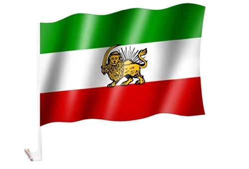 Autoflagge/Autofahne Persien (Iran alt) mit Wappen