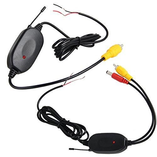 phansthy 2,4GHz Wireless Video Sender und Empfänger-Kit für Auto Rear View Kameras und Monitore Rückfahrkamera Parking System (Wireless-rückfahrkamera-system)