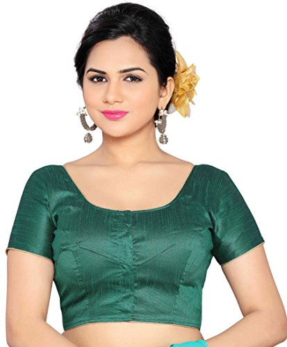 Studio Shringaar Poly Raw Silk Must Have Saree Blouse available in Vibrant...