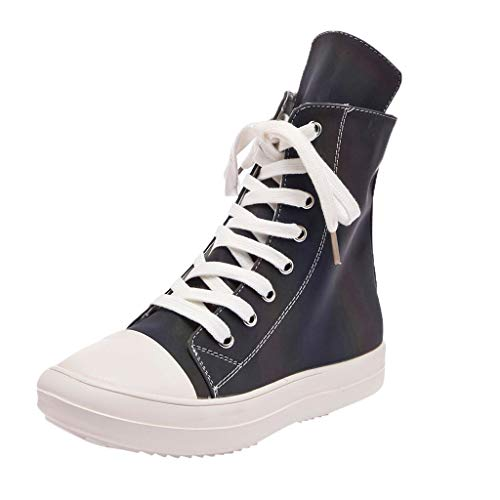 ODRD [EU39-EU49] Schuhe Frauen Flache Hohe Hilfe Schuhe Hohe Pumps Casual Illuminate Schuhe Plateauschuhe Hot Stiefel Sneaker Wanderstiefel Combat Hallenschuhe Worker Boots Sports