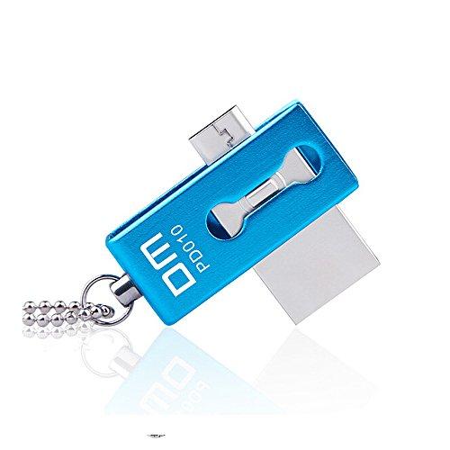 Memoria USB 32 GB Memoria Flash USB 2.0 Pen Drive de Alta Velocidad Doble Uso Celular Android&Ordenador Smartphones y Tableta