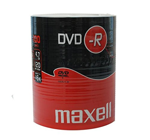 Maxell DVD-R 4.7 GB 16X 120 Min Video - Matt Silver (100 Disk Pack - Shrink Wrapped) Test