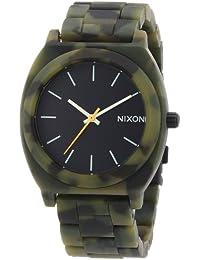Nixon Damen-Armbanduhr Time Teller Acetate Matte Black / Camo Analog Quarz Plastik A3271428-00