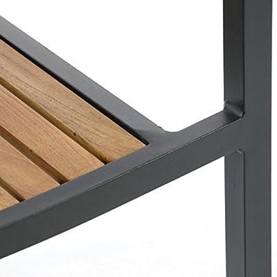4er Set Gartenstuhl Stapelstuhl Holzstuhl Terrassenstuhl mit Armlehnen – Hartholz Aluminium – 85x55x52 cm – pflegeleicht robust stapelbar – B-Ware grau von Nexos Trading bei Gartenmöbel von Du und Dein Garten