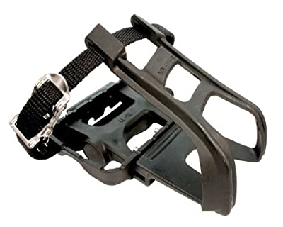 ETC Mountain Bike Resin/Alloy with Toe Clip/Strap Pedal - Black from ETC