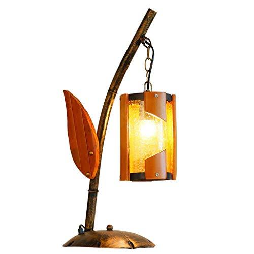 GRMV Europäischen Stil Retro E27 Industrielle Schlafzimmer Nachttischlampe Schreibtischlampe, gelbem Glas Schatten, Kreative Wohnzimmer Bar Dekoriert Tischlampe Licht -