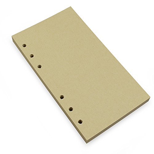 6-Ring-A6Binder/Planer Refill Papier, 6Loch, 63/4x 41/20,3cm nachfüllbar weiß Papier für Loose Leaf Binder Notizbuch Diary Traveler Tagebuch fügt, 80Blatt/160Seiten, blanko Blank Craft Paper (3-ring-planer Binder)