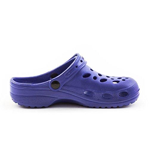 Trendige Unisex Damen Kinder Herren Garten Sommer Wasser Aqua Clogs Schuhe Blau