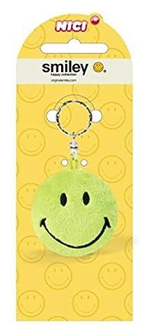 Nici Smiley 6cm grün Plüsch 2D Schlüsselanhänger 16015