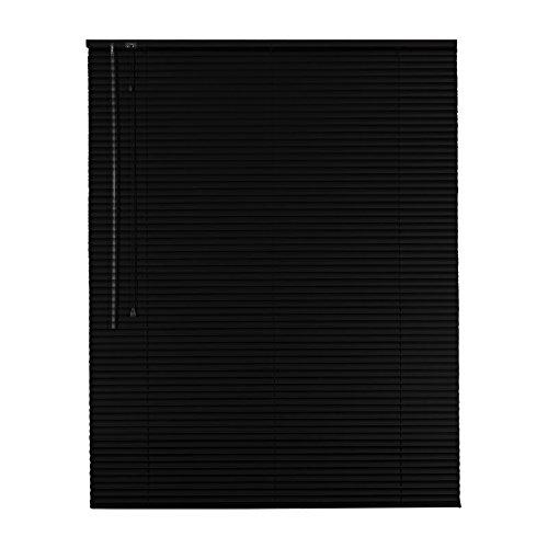 Easy-Shadow Hochwertige Aluminium Jalousie Rollo Alu Jalousette 65 x 230 cm / 65x230 cm in Farbe schwarz - Bedienseite links / Maßanfertigung