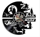 Star Wars wanduhr,Vinyl Record wanduhr,Wohnzimmer Uhr,Moderne Retro Wanduhr,Für Wohnzimmer Hotel Partei-B 30cm(12inch)