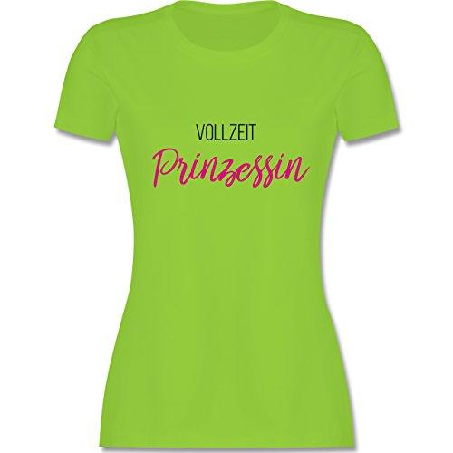 Typisch Frauen - Vollzeit Prinzessin - tailliertes Premium T-Shirt mit Rundhalsausschnitt für Damen Hellgrün