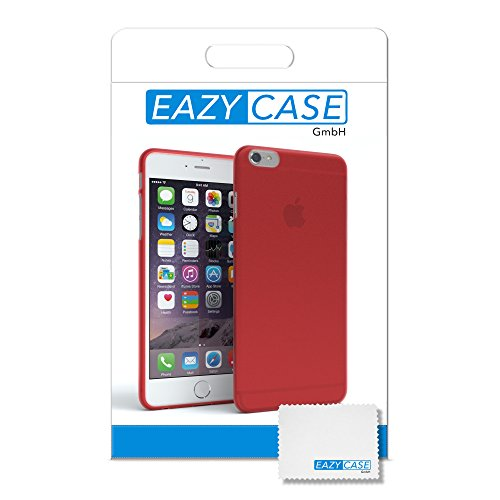 "Apple iPhone 6S / 6 Hülle, EAZY CASE Ultra Slim Cover ""Matt"" - Premium Handyhülle Transparente Schutzhülle, Smartphone Case in Transparent / Weiß Matt Rot"