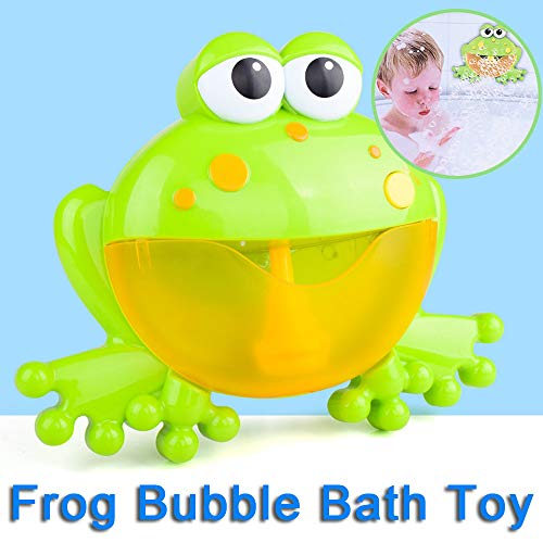 (Fcostume Bubble Machine Badewanne Big Frog Automatische Bubble Maker Gebläse 12 Musik Song Badespielzeug für Baby (A))