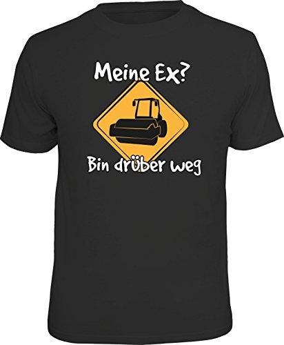 Original RAHMENLOS® T-Shirt für den Single: Meine Ex, bin darüber weg! Größe XL, Nr.6189