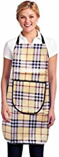 Stop N Shopp Waterproofs Free Size Kitchen Apron with Front Pockets in Multi Colour (Pack of 1)