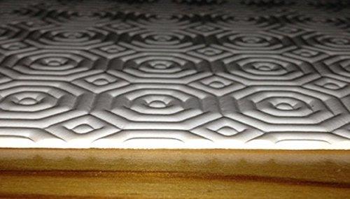 protège-table rond taille choix libre (seulement Rond) table Tapis de la table molton - blanc, 50 cm rund