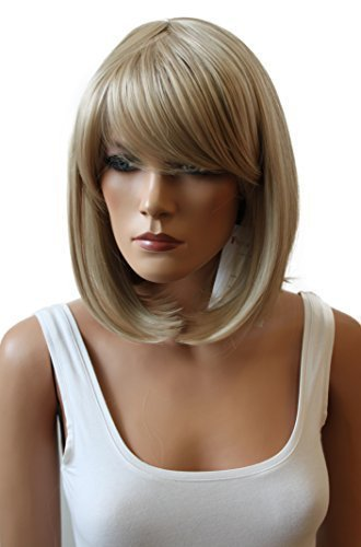 PRETTYSHOP Unisexe perruque Bob cheveux courts fibre synthétique résistant à la chaleur blond # 16 WB3