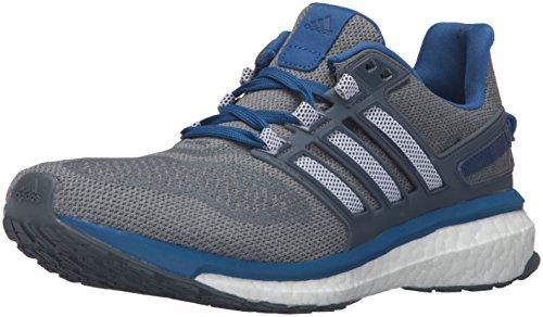 Adidas Performance Energy Boost 3 M Laufschuh, mid grau / schwarz / Ausrüstung Blau, 6,5 M Us