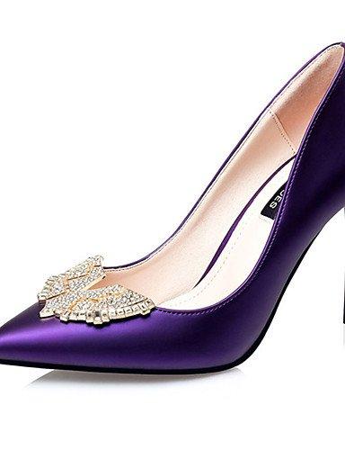 WSS 2016 Chaussures Femme-Décontracté-Noir / Vert / Violet / Blanc / Argent / Bordeaux-Gros Talon-Talons-Talons-Laine synthétique green-us7.5 / eu38 / uk5.5 / cn38