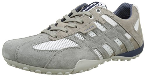 Geox Herren Uomo Snake K Low-Top Grau (Ice/whitec0463)