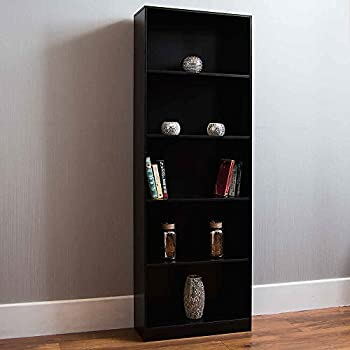 Maine Tall And Wide Extra Deep Bookcase Black A Amazon