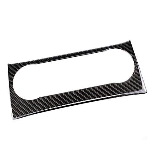 Minzhi Carbon Fiber Air Conditioner Control Panel Cover Trim Replacement for Mercedes W204 C Class 2011-2013 -