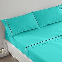 Burrito Blanco Juego de sábanas 241 Turquesa de cama de 90x190/200 cm