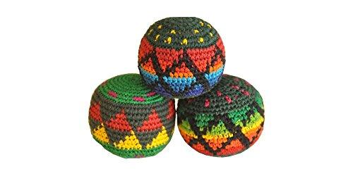 3x Hacky Sack/Footbag/Jonglierball | bunt | perfekte Form | 3 Stück