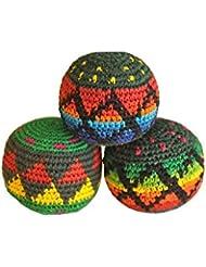 Hacky Sack/Footbag/para malabares | Multicolor | Forma perfecta, 3unidades)