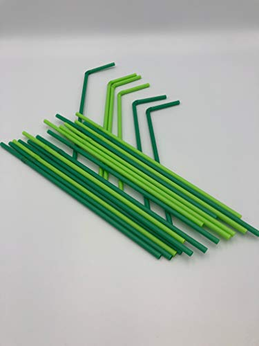 500-8000 Strohhalme, biologisch abbaubar, umweltfreundlich, biegbar, biegsam, Grün