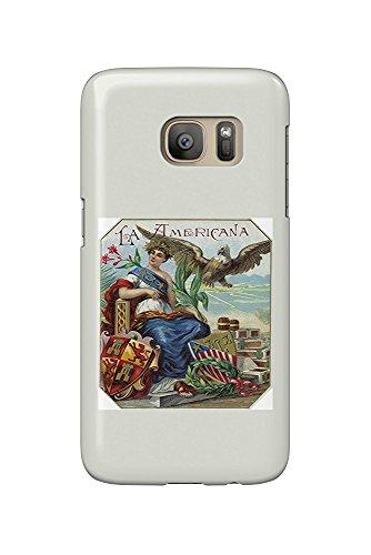 La Americana Brand Cigar Box Label (Galaxy S7 Cell Phone Case, Slim Barely There) -