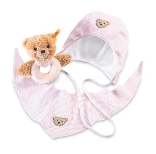 Steiff 239786 - Geschenkset Schlaf Gut Bär Greifring, rosa