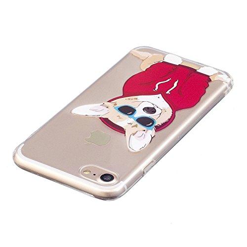 "iPhone 7 (4,7 zoll) Hülle Case, Edaroo Niedlich Lustig Karikatur Tiere Labrador Hund Welpe Muster iPhone 7 4,7"" Schutzhülle Hülle Case Cover Ultra-Transparente Felxible TPU Silikon Handyhülle Hülle mi Dog #5"